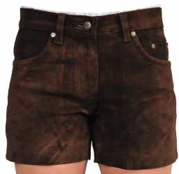 Fuente deluxe leather shorts nubuck leather