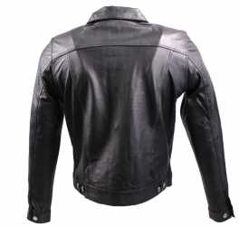 Leather Jacket Jeans Cow Waxy Leather black