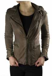 Womens Leather Jacket Ricano Betty Lambskinleather Vintage-Brown