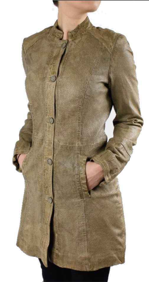 Womens Leathercoat Ricano Roma Lambskin Leather beige