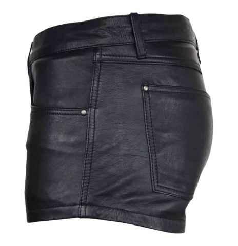 Lederhose Ricano Shorts schwarz