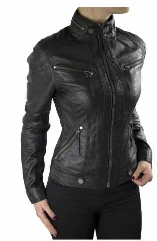 Womens Leatherjacket Ricano Derby Lambskin Leather black