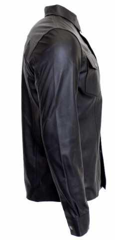 Lederhemd Ricano Lammnappaleder schwarz