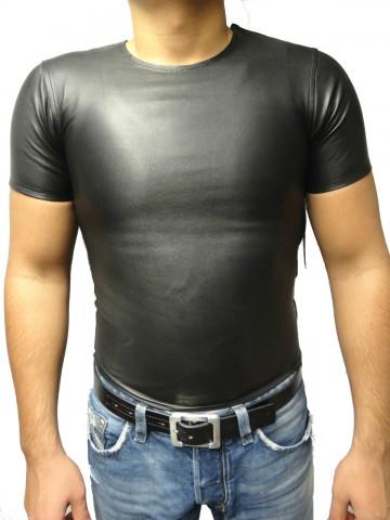 Top-Ledershirt Ricano Lammnappa-Leder schwarz