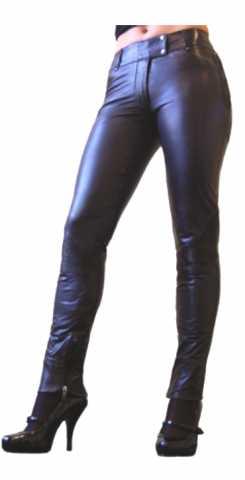 Damen-Lederhose Ricano Alaska Lammnappa-Leder schwarz