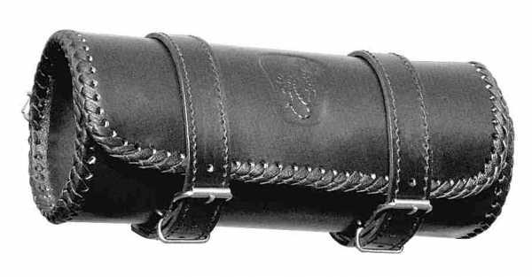 Motorrad-Werkzeugrolle Skorpion aus Rindsleder schwarz