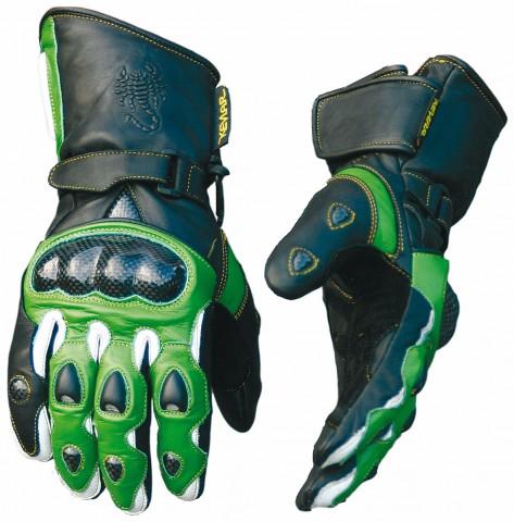 Racing-Handschuh Carbon rot