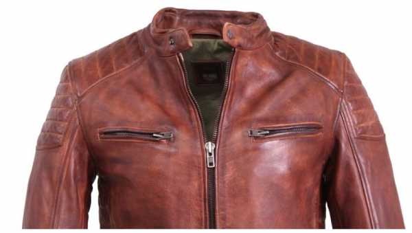 Leather Jacket Ricano Cooper Cow Nappa Leather Cognac