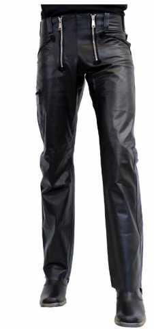 Lederhose Ricano Carpenter schwarz
