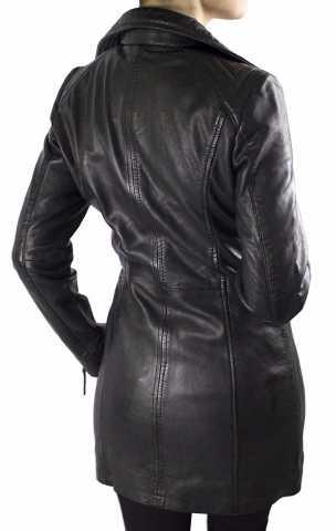 Ladies Leather Coat Oklahoma Lambskin Leather black
