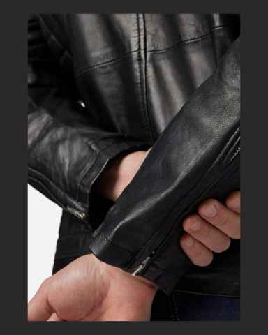 Mens Leather Jacket Ricano Cooper Lambskinleather black
