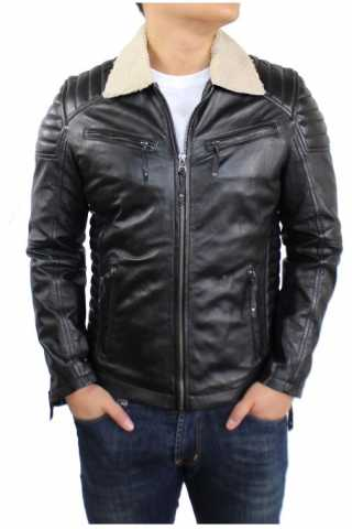 Mens Leather Jacket Ricano Cooper Lambskinleather grey