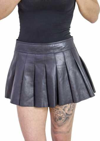 Faltenlederrock Ricano Plated Skirt