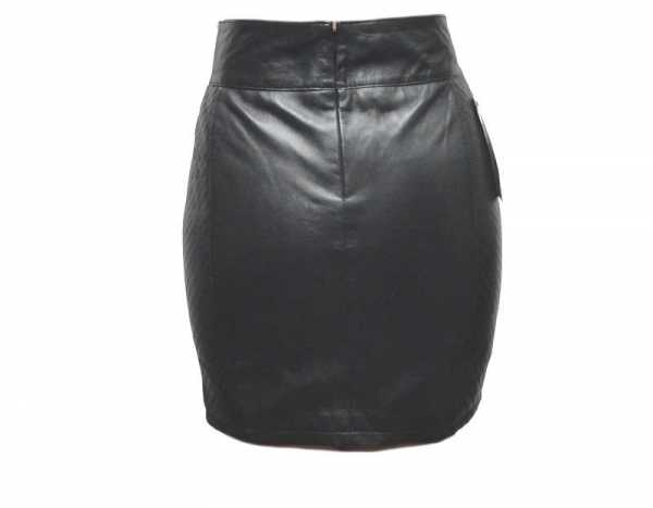Womens leather skirt Ricano lambskinleather black