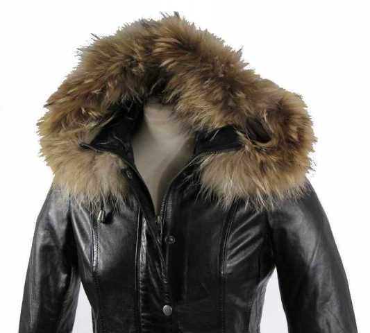 Womens Leather Coat Ricano Manta Lambskinleather Black