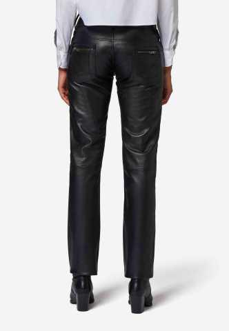 Lederhose Ricano Skinny Fit schwarz