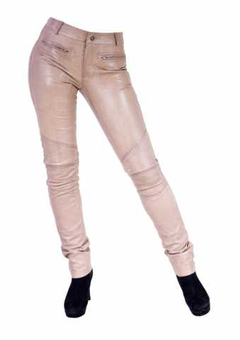 Damen Lederhose Ricano Donna 2 Lammnappa-Leder beige