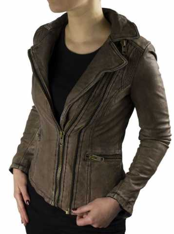 Lederjacke Ricano Betty braun