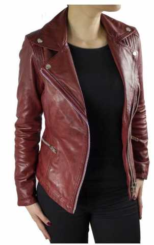 Lederjacke Ricano Betty rot