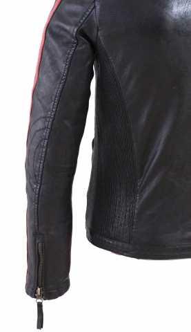 buy online 8e81e a8ada Lederjacke Herren Ricano Rica Lammnappaleder schwarzrot