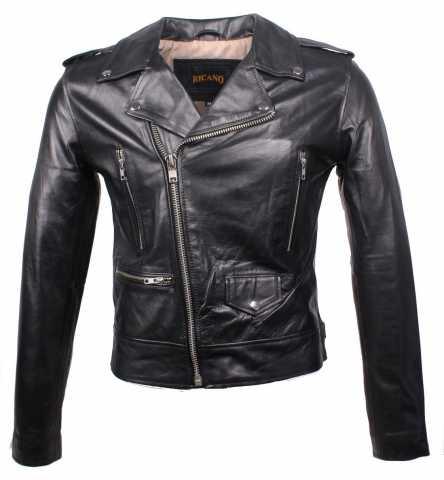 Lederjacke Ricano Short Jacket schwarz