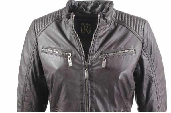 Leather Jacket Ricano Rihanna Lambskin Leather brown