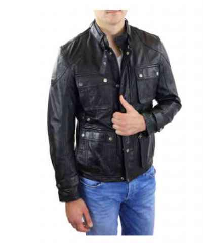 Mens Leather Jacket Ricano Ranger Lambskinleather brown