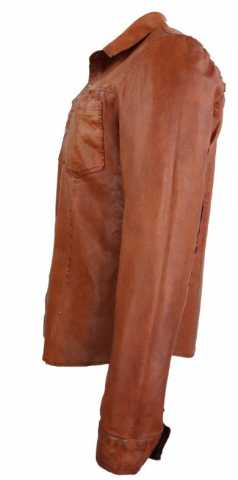 Lederhemd Ricano Reverse Shirt Cognac