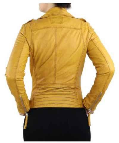 Lederjacke DamenLammnappalederRelly 2 gelb