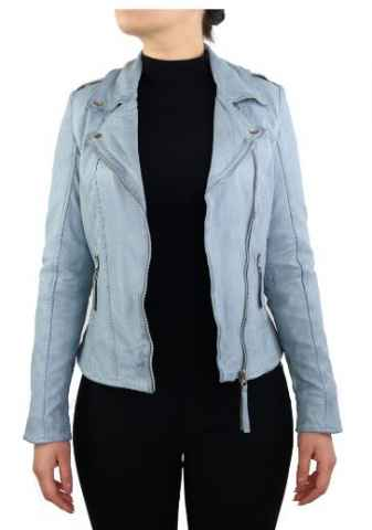 Leather Jacket Women Ricano Relly 2 blue