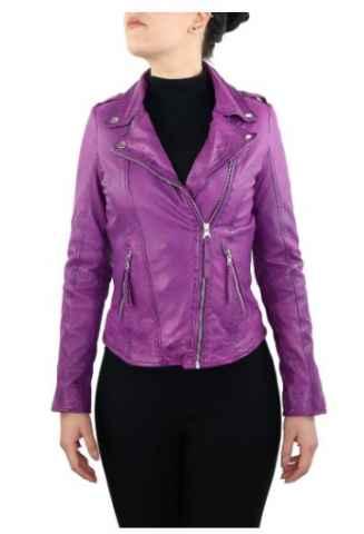 Lederjacke DamenLammnappalederRicano Relly 2 Purple
