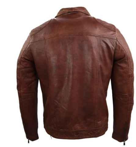 Leather Jacket Ricano Roland Lambskinleather Cognac