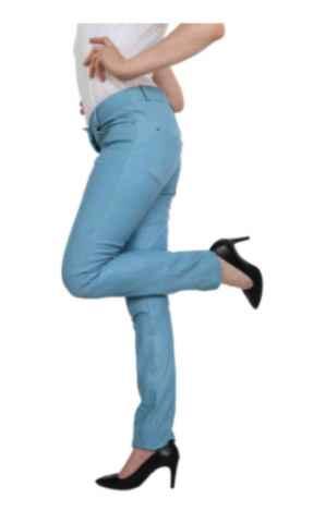 Lederhose Ricano Dorin blau